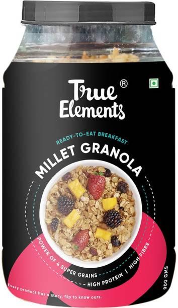 True Elements Millet Granola, Power of 4 Super Grains, Ready to Eat Breakfast