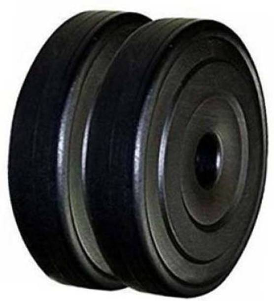 Mahadev Sports Best quality pvc 20kg (10kg X 2) Black Weight Plate