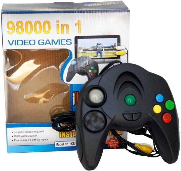 98000 IN 1 Video Game - TV Game Direct AV Inputs Shooting, Puzzle, Racing, Action Etc Limited Edition