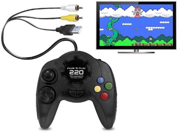 Plug N Play (PNP) 220 Video Games - Different Video Games with SUPER MARIO and CONTRA (Balck) Limited Edition