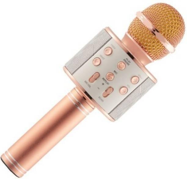 AARL Handheld Wireless Singing Mike Multi-function Bluetooth Mic with Microphone Speaker For All Smart Phones Microphone Microphone