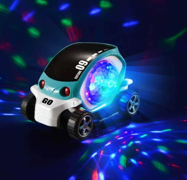 BOZICA Best Baby Musical/Dancing/3D Lighting Stunt 09 Future Car Rotate 360° With Multicolor led Flashing Light & Music Learning/educational Gift/gifting car toy