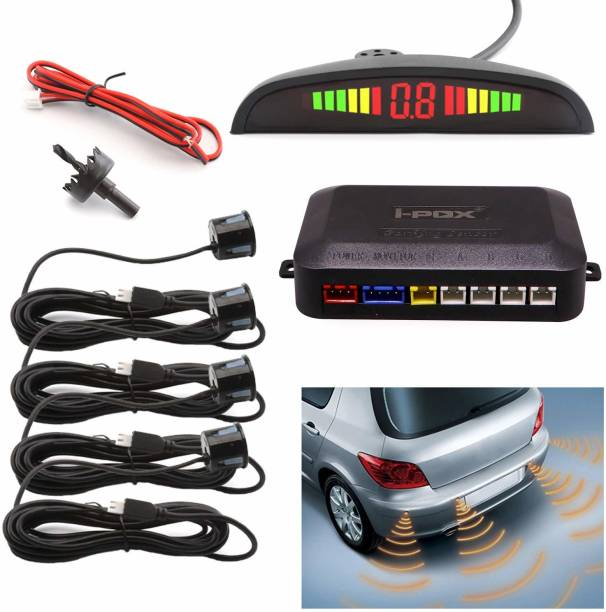 AllExtreme EIX-698 Car Reverse 4 Parking Sensor System Reverse Backup Radar System with LED Display Parking Sensor