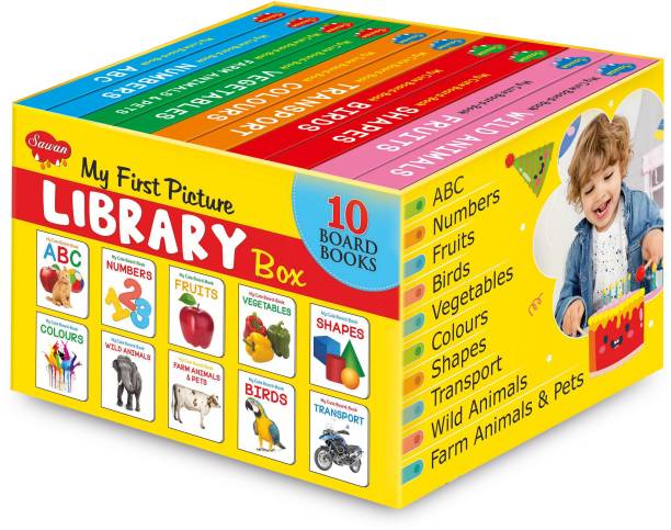My First Learning Library: Boxset Of 10 Board Books For Children's By Sawan (English, Hardcover)