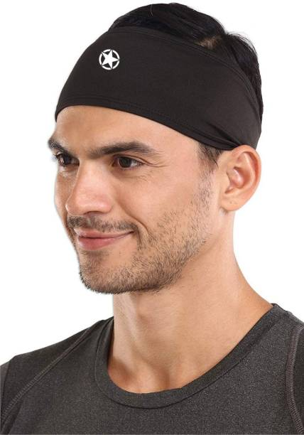 Just Rider Mens Headband - Running Sweat Head Bands for Sports - Athletic Sweatbands for Workout/Exercise, Tennis & Football - Ultimate Performance Stretch & Moisture Wicking Head Band Head Band
