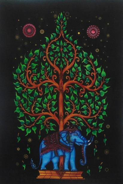 Heyrumbh Handicrafts Tree on Elephant Tapestry Hippie Psychedelic Boho Bohemian Cotton Decorative Wall Hanging Poster 40 X 30 Inches Tapestry
