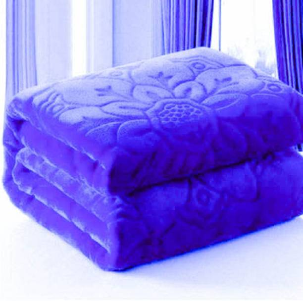 AUBORON Self Design Double Mink Blanket