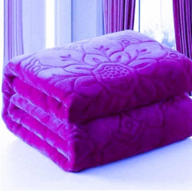 AUBORON Self Design Double Woollen Blanket
