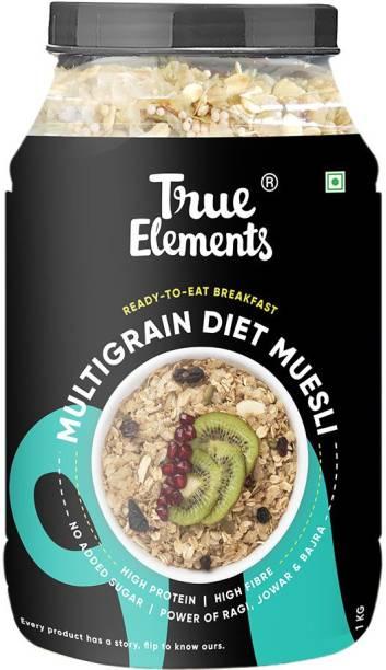 True Elements Multigrain Diet Muesli, Power of Ragi, Jowar & Bajra, No Added Sugar Breakfast