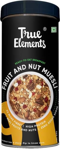 True Elements Fruit and Nut Muesli, Ready to Eat Breakfast, Zero Added Sugar
