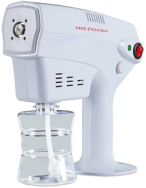 DAITORY Pack Of 1 Disinfection Nano Spray Gun, Nano Steam Gun, Sanitizer Gun, Vaporizer Gun, Steam Gun Ultra Fine Aerosol Water Mist Rapid Fogging and Sanitizing Machine Suitable for Home, Office, Saloon, Car - White, 260ml Vaporizer (White) Vaporizer