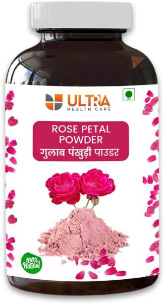 Ultra Healthcare Rose Petal Powder For Skin | Face Pack Mask for Fairness | Tanning & Glowing Skin | 100% Pure | 150gm