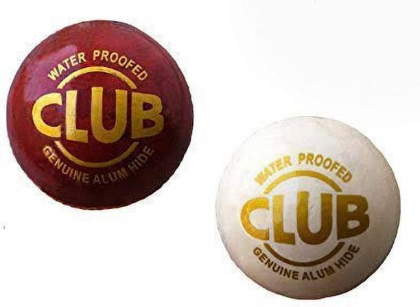 Shreejee Red and white Cricket Leather Ball Combo Cricket Leather Ball
