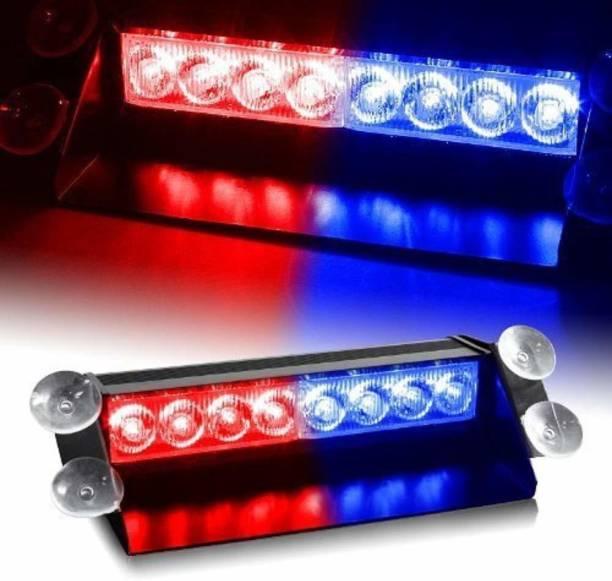 SS Zeeber Waterproof 8 LED Red Blue Police Flashing Light for All Cars 1 Pcs Car Fancy Lights