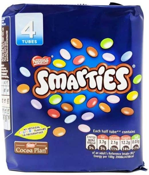 Nestle Smarties 4 Tube Pack Pouch, 152 g Crackles