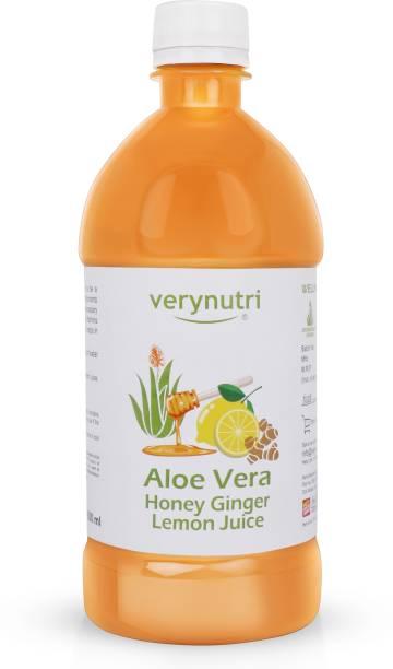 Verynutri Aloe vera Juice with Honey, Lemon, Ginger