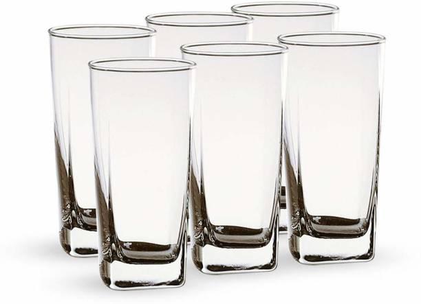 Shivshakti Kitchenware (Pack of 6) Shiv shakti Clear Transparent Water & Juice Glasses Glass Set
