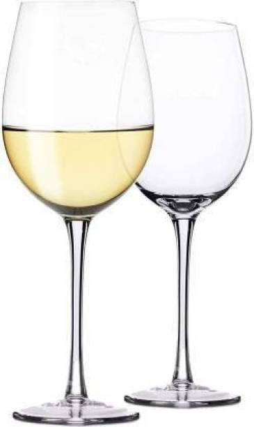 JIGSHTIAL (Pack of 2) Wine Glass - Ideal for Party Glass, Whisky Glass, Clear Glass Glass