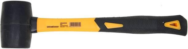 GSK Cut Professional Rubber Mallet Hammer Fiberglass Handle Ergonomic Comfortable Grip Handle, Durable Weight : 8oz/220g Mallet