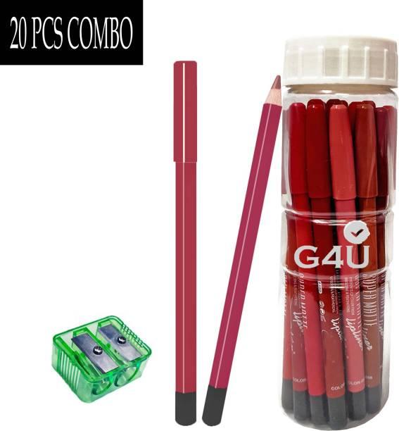 G4U Super Matt Lipliner Pencil 20 Pcs