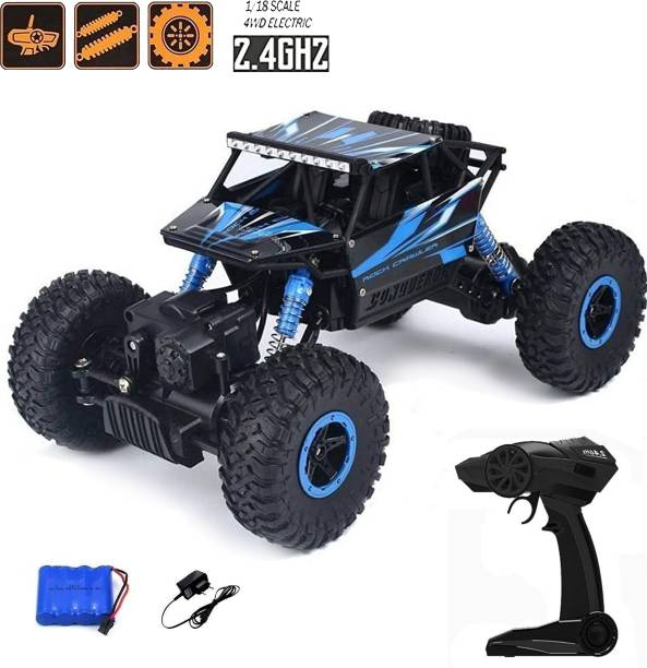 Toyshack 1:18 Rock Crawler Off Roader Monster Truck with 2.4GHz Remote Control Rechargeable Toy for Kids