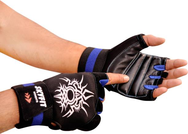 SKYFIT Premium Heavy Wrist Support Gym Sports Gloves Gym & Fitness Gloves