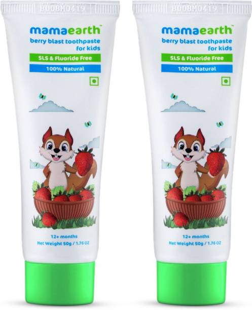 MamaEarth Berry Blast Toothpaste Value Pack (50g X 2) Toothpaste