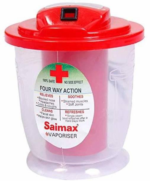 Saimax Multipurpose Electric Steam Respiratory Vapouriser (Red) - Cold & Cough, Nozzle Inhaler, Nose Vaporiser, Facial Steamer Vaporizer
