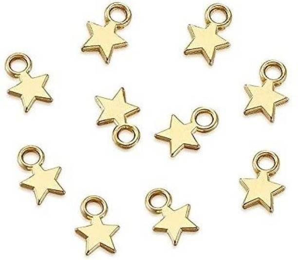 Pandahall 100pcs Tibetan Style Tiny Blank Stamping Tag Charms Pendants Christmas Star en 10x8x1mm Lead Free for DIY Jewelry Making