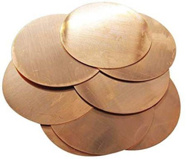 Copperlab 3-5/8 Inch Round Circle Disc Copper-Metal Stamping Blank Engraving Tag-16 Oz Copper-8 Blanks