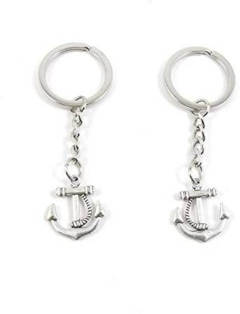 Beauty-Making 1 Pieces Keyring Keychain Keytag Key Ring Chain Tag Door Car Wholesale Jewelry Making Charms N8Px7 Boat Anchor