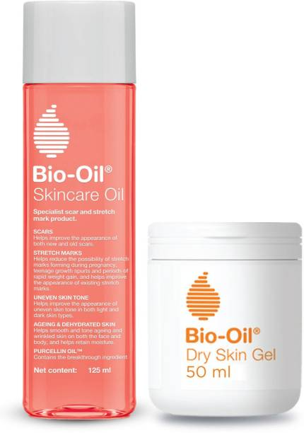 bio oil Combo - Body Care Oil and Dry Body Gel for Scars, Pregnancy Stretch Mark,Ageing,Uneven Skin Tone