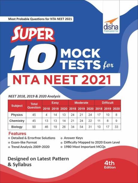 Super 10 Mock Tests for Nta Neet 2021