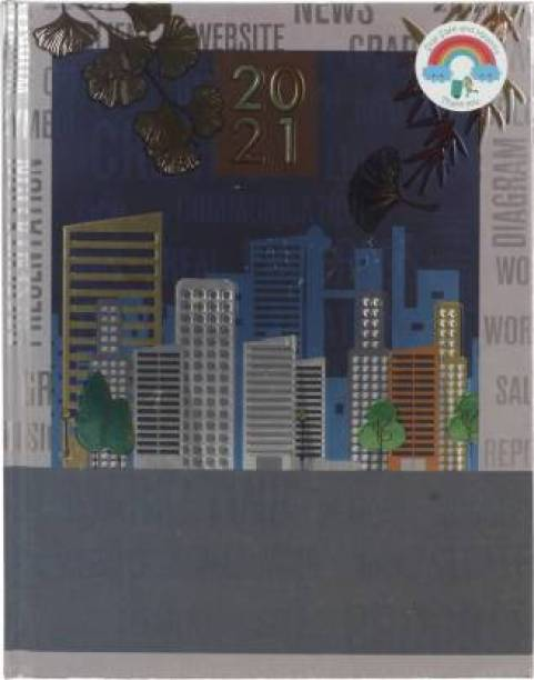 Toss TOD-87 Metallic 2021 B5 Diary Ruled 330 Pages