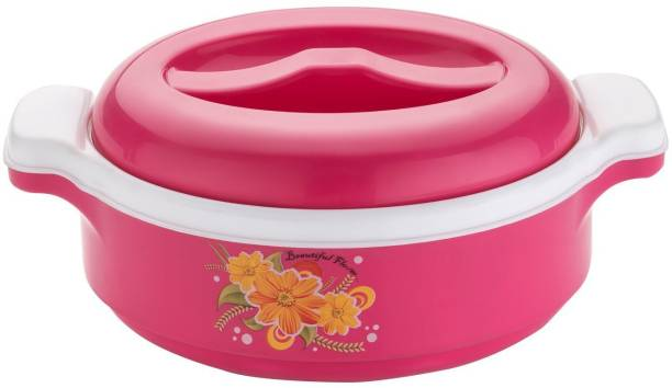 RANIC Steel+ Plastic Casserole, Set of 1, 1 L, Pink Cook and Serve Casserole