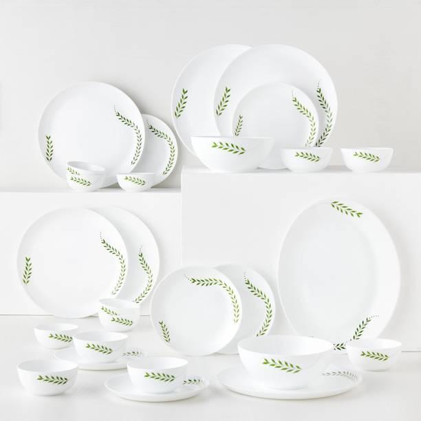 Larah by Borosil Pack of 27 Opalware Moon - Botanica Dinner Set
