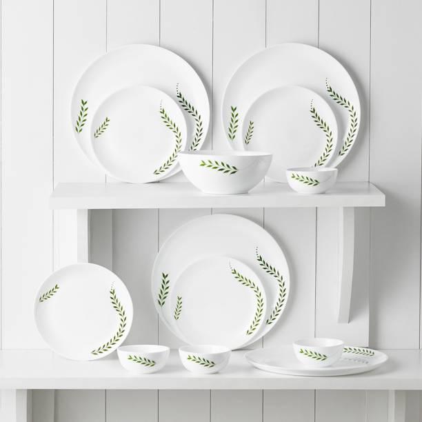Larah by Borosil Pack of 13 Opalware Moon - Botanica Dinner Set