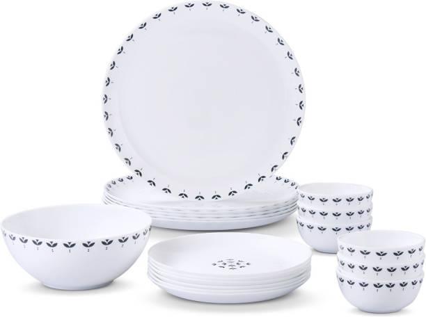 Larah by Borosil Pack of 19 Opalware Moon - Fabula Dinner Set