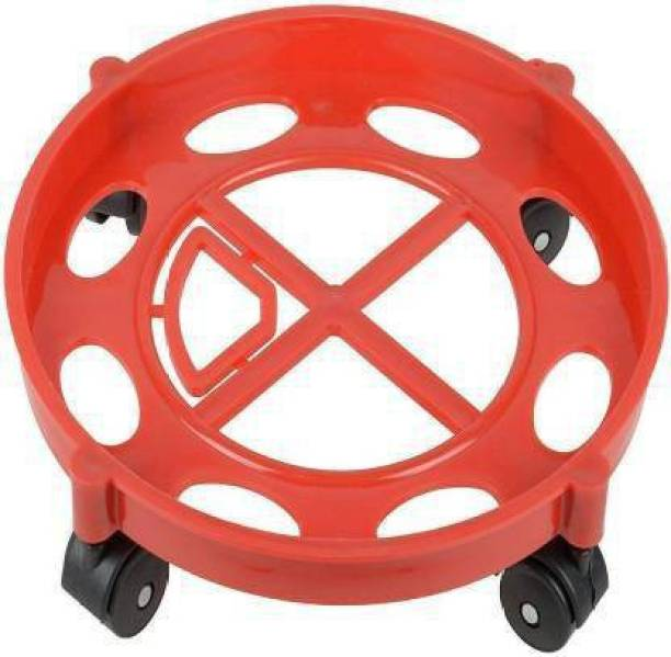 Avni Strong Plastic Gas Cylinder Trolley With Wheel   Gas Cylinder Trolly    Gas Trolly   Lpg Cylinder Stand   Gas Trolly Wheel  Cylinder Trolley with Wheels   Cylinder Wheel Stand- Gas Cylinder Trolley Gas Cylinder Trolley (Red) Gas Cylinder Trolley