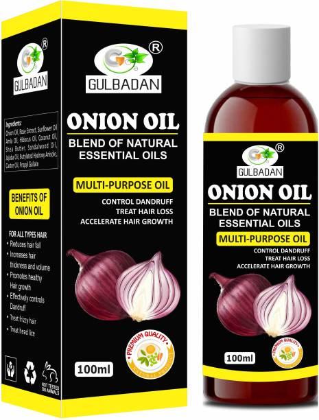 GULBADAN Onion Herbal Hair Oil for Hair Regrowth & Hair Fall Control Hair Oil