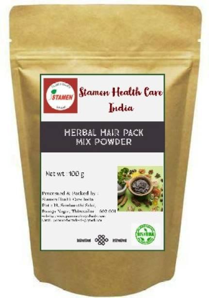Stamen Health Care India Herbal Hair Pack Mix Powder