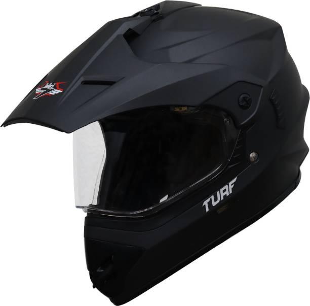 Steelbird Off Road TURF Motocross Helmet in Matt Midnight Black Motorbike Helmet
