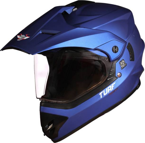 Steelbird Off Road TURF Motocross Helmet in Glossy Y.Blue Aerodynamic Helmet for Man Motorbike Helmet