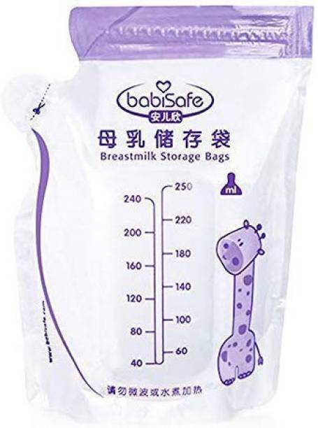 The Little Lookers Premium Quality Breast Milk Storage Bags 250ML Baby Food Disposable Convenient Child Breast Milk Freezer Bag BPA Free (30 Pieces per Box)