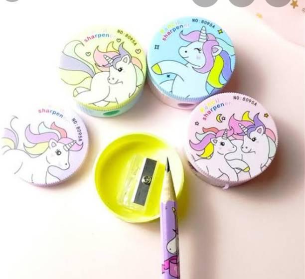 The Little Angels Cute Unicorn Round Sharpeners Single Pencil Sharpeners