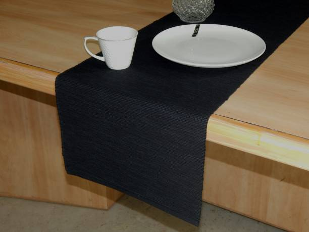 Home Colors.in Black 132 cm Table Runner