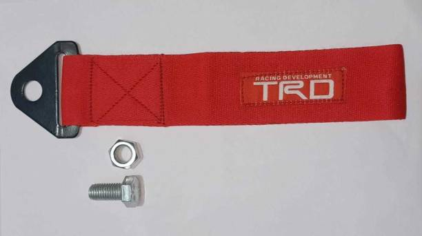 Auto MT Best Quality RED TRO Towing For All Car's BELT screw fitting 0.56 m Towing Cable