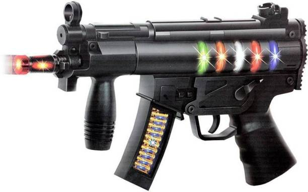 Toyvala Black Wepon Toy Gun With Different Light and Music Guns & Darts