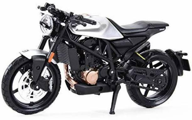 Maisto 1/18 Scale Model Compatible with Husqvarna Motorcycles Vitpilen 701 2018 (Grey)