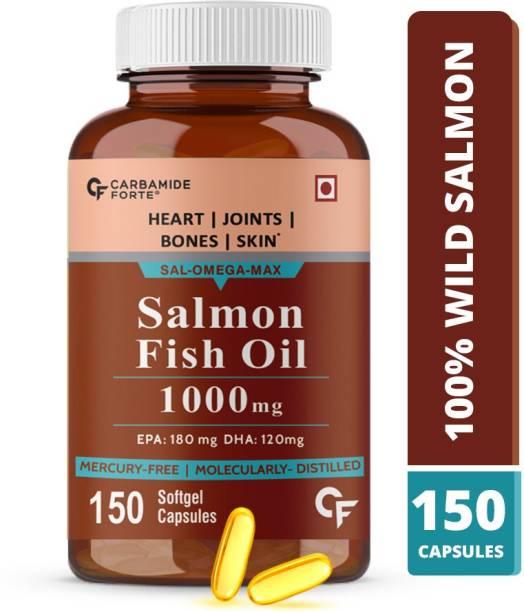 CF Salmon Omega 3 Fish Oil 1000 mg EPA 180mg and DHA 120 mg